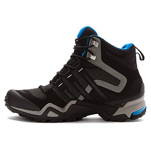 Adidas Af5973 rapide X Haute Gtx Chaussures de randonnée, carton / noir / technologie Beige - 5 Carbon / Black / Dark Solar Blue