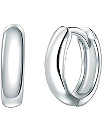 Rafaela Donata - Créoles avec fermetures à charnière - Argent sterling 925, bijoux en argent boucles d'oreilles - 60837064