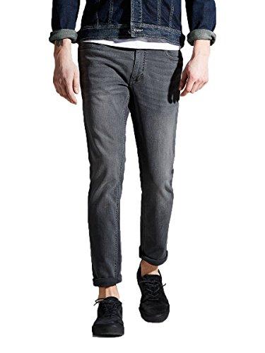 Jack & Jones-Maglietta originale Tim Slim Tapered Fit Denim Jeans Grigio Grey (002) W36