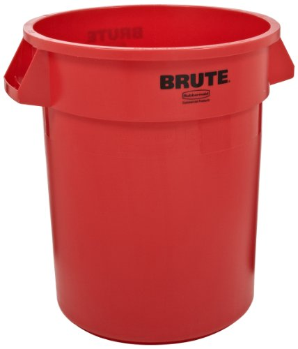 Rubbermaid Commercial Brute Round Container 166.5L - Red Red Brute-container
