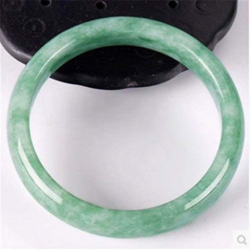 KTT Bracciale in Giada Verde Chiaro Bracciale in Oro Naturale con Gemme Naturali,62mm