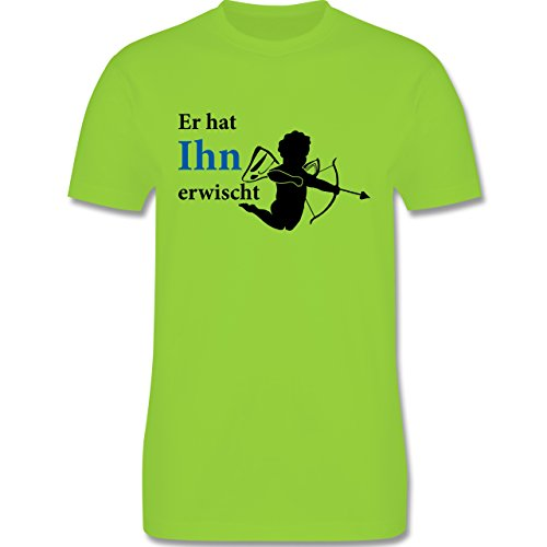 JGA Junggesellenabschied - Er hat Ihn erwischt - Herren Premium T-Shirt Hellgrün