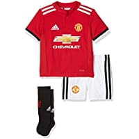 adidas MUFC H BABY - 1st Football kit Outfit of Manchester United 2015/16 for Unisex Children, 86, Red / White