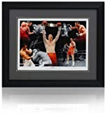 British Sports Museum David Price Firmada a Mano 16x12 Boxeo Montaje