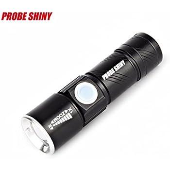 Noir Bloodfin Anti-abrasif Mini lampe de poche,/étanche Torche Puissante LED 3500 lumens 5 modes CREE XM-L T6 LED puissante lampe 18650 lampe de poche lampe de poche pour usage Domestique
