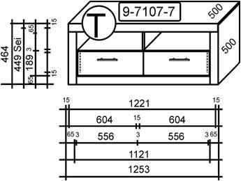 8082-7 – TV-Teil, in kernbuche teil- massiv, geölt - 2