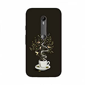 Back cover for Moto X Play Coffee Tree