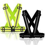 MyToolz hochwertige Sicherheitsweste für Damen und Herren - Praktische größenverstellbare Reflektorweste für das Fahrrad, Auto und Motorrad - Warnweste zum Laufen und Joggen- Gelb/Schwarz (Gelb)