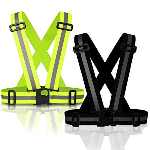 MyToolz hochwertige Warnweste für Damen und Herren - Praktische größenverstellbare Reflektorweste für das Fahrrad, Auto und Motorrad - Sicherheitsweste zum Laufen und Joggen- (Schwarz)