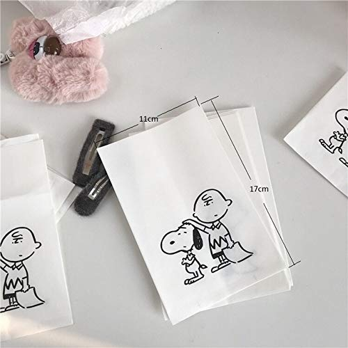 SMHILY 10Pcs Paper Bags Vielen Dank, DASS Sie Cookie & amp; Candy Bag selbstklebend für Hochzeit Geburtstagsfeier Geschenk Tasche Keks Backen Verpackungsbeutel (Halloween Candy Bag Handwerk)