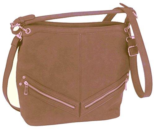 Alessandro® Damentasche ANCORA 5791 Handbag Damen Handtasche 4 Farben Nude