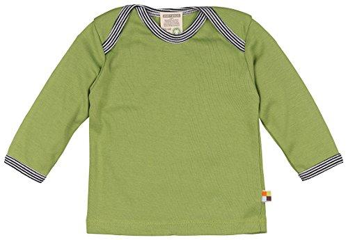 loud + proud Unisex Baby T-Shirt Shirt Langarm, Grün (Moos Mo), 80 (Herstellergröße: 74/80) (Mo Grün)