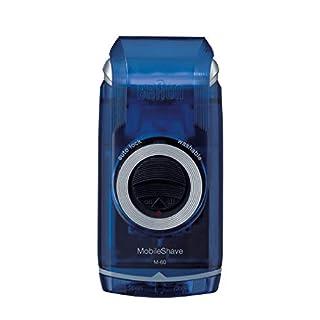 Braun MobileShave M-60 elektrischer Rasierer (vollständig abwaschbarer Rasierapparat, Elektrorasierer für unterwegs) transparent-blau (B002EZZ5NQ) | Amazon Products