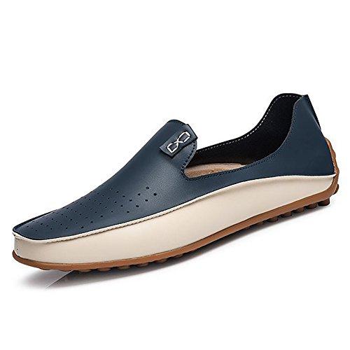 Yaer mocassini eleganti da uomo classici premium, slip on mocassini in pelle scarpe da barca eu39-eu47