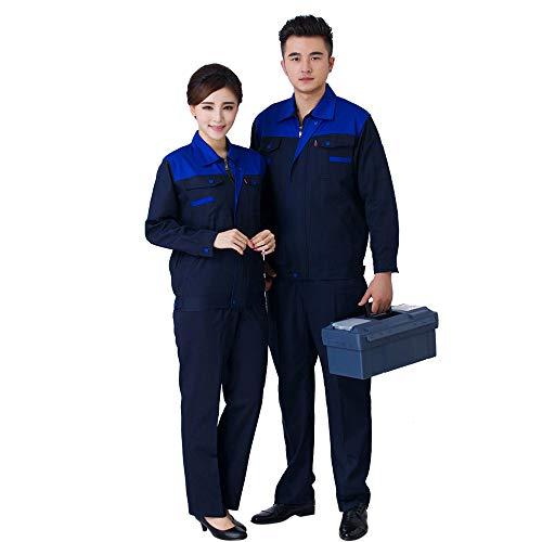 KINDOYO Set di abbigliamento da lavoro - uomo e donna a maniche lunghe a due colori indumenti da lavoro assicurazione lavoro saldatura set di riparazione auto, Stile-10, EU S=Tag M