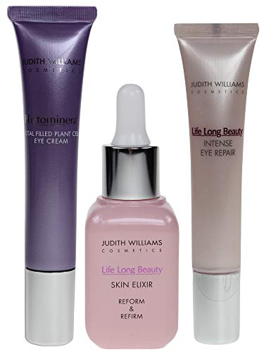 Judith Williams Life Long Beauty Skin Elixir Reform & Refirm 30ml + Intense Eye Repair 15ml + Phytomineral Total Filled Plant Cell Augencreme 15ml