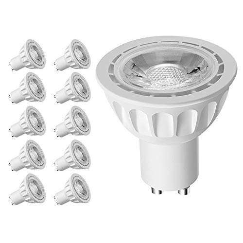 LINTELEK GU10 LED Light Bulbs, 5W Spotlight, 50W Equivalent Halogen Replacement, 450lm 4000K Warm White, 40°Beam Angle, Non-Dimmable, UL Listed, 10 PACK