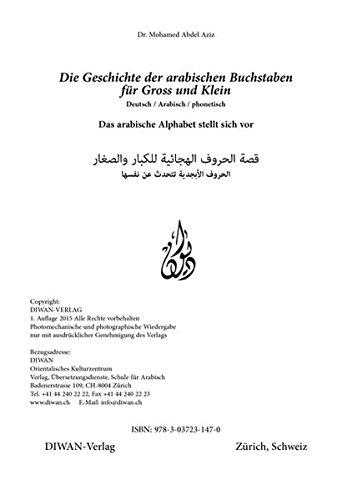 Die Geschichte der arabischen Buchstaben für Gross und Klein: Das arabische Alphabet stellt sich vor