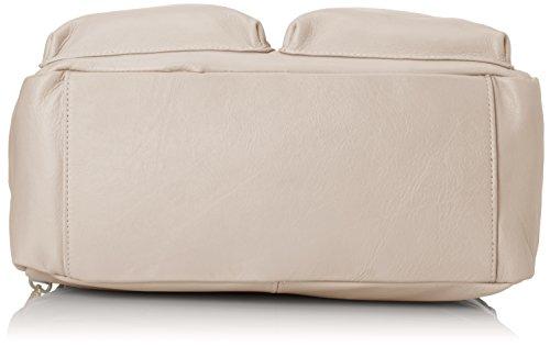 CTM Borsa a mano e Spalla da Donna, 36x26x15cm, Vera pelle 100% Made in Italy Beige