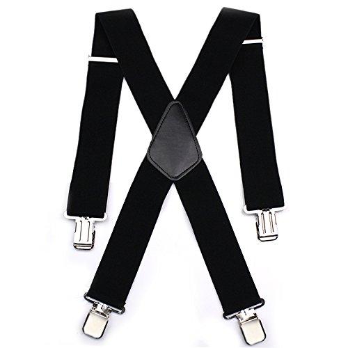 Bretelle per pantaloni da uomo ampiezza 50 resistenti regolabili da moto