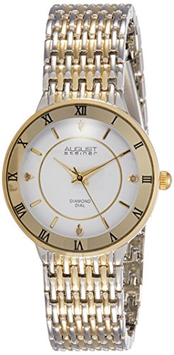 August Steiner Reloj con movimiento cuarzo japonés Woman AS8178TTG Oro / Plata 31 mm