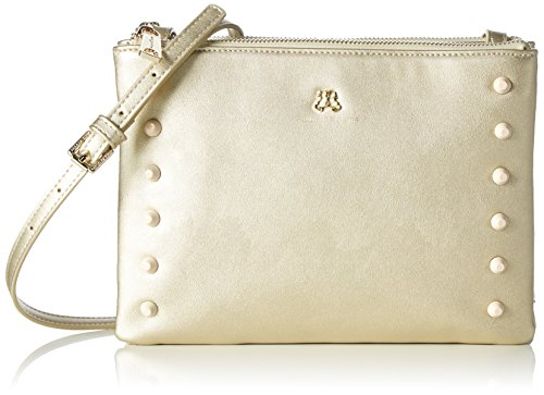 Paul & Joe SisterDouble zipped bag - Borsa a tracolla Donna , Oro (Gold (088)), 26x18x5 cm (B x H x T)