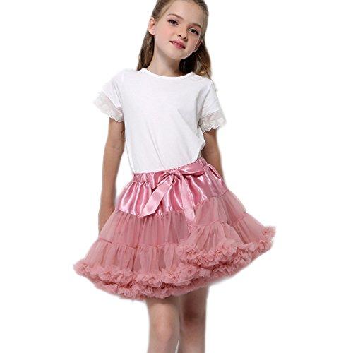 FOLOBE Baby Girl's flauschige Pettiskirt Kleinkind Kid Petticoat (Fuchsia Organza Tutu Mädchen)
