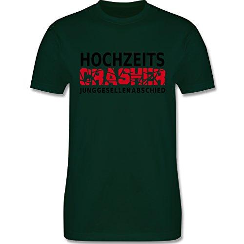 JGA Junggesellenabschied - Hochzeit Crasher - Herren Premium T-Shirt Dunkelgrün