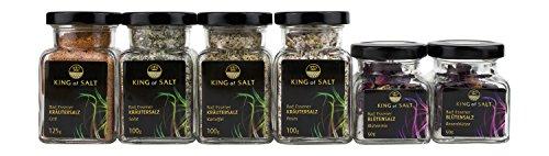 King of Salt Gewürzsalz-Set mit 6 hochwertigen Salzen, 1er Pack (1 x 525 g) Himalaya-meer-salz-bio