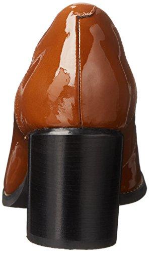 Pompe Clarks Tarah Plateforme Sofia Cognac Patent Leather