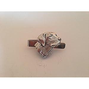 A4Labrador Kopf des English Pewter Emblem auf einem Krawatte Clip 4cm handgefertigt in Sheffield kommt mit prideindetails Geschenk-Box