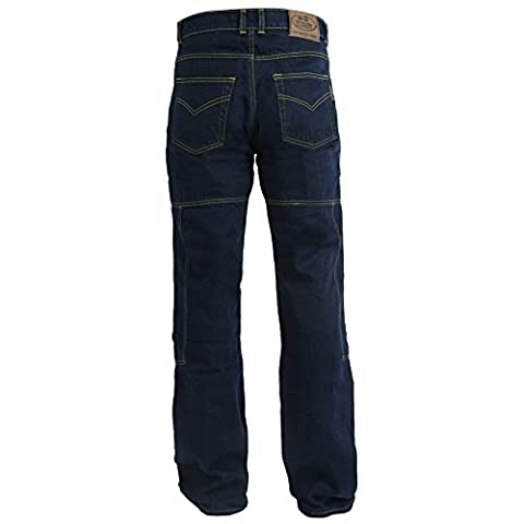 Mens Blue Denim Dupont 280GSM Kevlar Motorbike Jeans With CE Armour