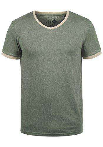 !Solid Thelo Herren T-Shirt Kurzarm Shirt Mit V-Ausschnitt, Größe:M, Farbe:Climb Ivy (3785)