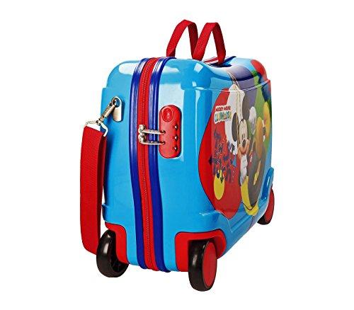 41RTagYdjrL - 2889951 Maleta trolley ABS correpasillos equipaje mano Mickey Mouse 50x39x20cm
