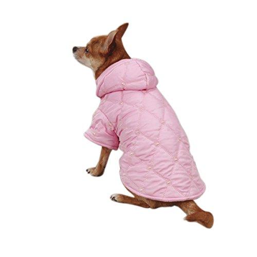 East Side Collection Hundejacke, gesteppt, Polyester, Größe L, 51 cm, Pastellfarben -