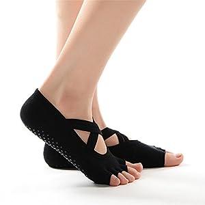 BSD Yoga Socken Kreuz mit Anti-Rutsch-Socken Anti-Rutsch-Fußbodensocken