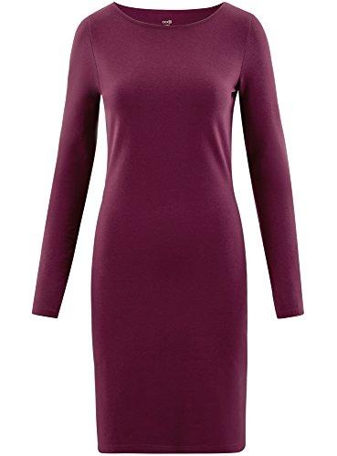 oodji Ultra Damen Enges Jersey-Kleid Violett (8300N)