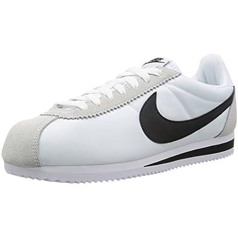 Nike, Uomo, Classic Cortez Nylon White Black,