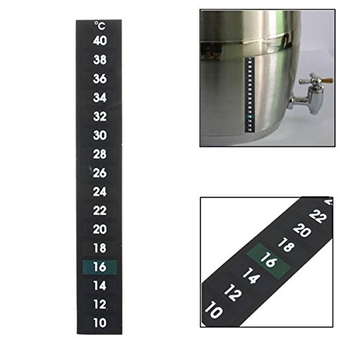Tutoy Flüssigkristall-Thermometer Für Die Fermentierung Homebrew Bier Weinherstellung 10-40 Grad - Grade Multimeter
