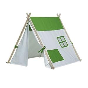 BuitenSpeel - GA257 - Triangular Tienda de campaña - Blanco / Verde