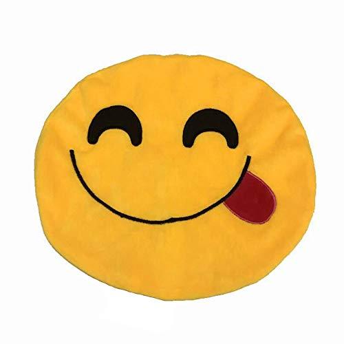 Vovotrade Bettwäsche aus Baumwolle Kissenbezüge Runden Bedrucken Dekorative Kissenhülle in Verschiedene Muster Kissenbezug Expression,Süß und lustig