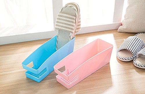 Zollyss Creative Home Slippers Storage Box Desktop Multi-Color Finishing Box(Pack of 2 Pc)