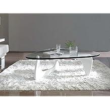 Mueble Auxiliar - Mesas de Centro Modernas - Cristal/Blanca JY-22 - iBERGADA
