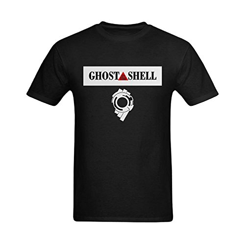 Men's Ghost In The Shell Logo Patch Graphic Fashionble Art T-Shirt