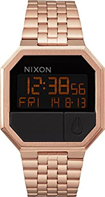 Nixon Re-Run All Rose Gold - Reloj de cuarzo para mujer, correa de acero inoxidable color dorado