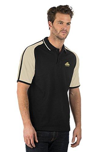 Eingebrannt/Bestickt - Bruntwood Logo Aufgeld Sportlich Kontrast Polo Hemd - Logo Premium Sport Polo Shirt - Herren & Damen Gold - Bruntwood Gold