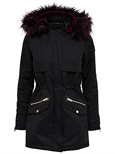 Only 15139206 Parka Donna Nero S