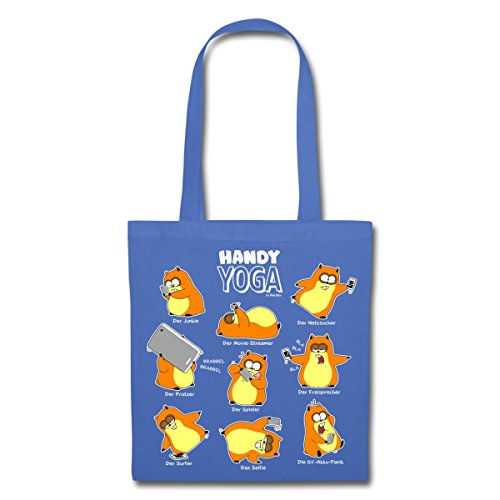 Hamster Handy Yoga Stoffbeutel von Spreadshirt® Hellblau