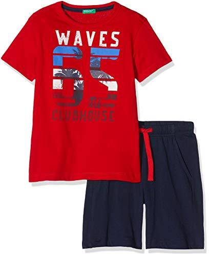 United Colors of Benetton Set T Shirt+Shorts Bambino