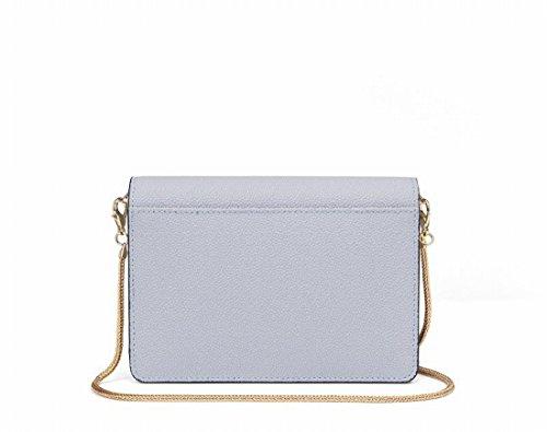 Kettenhandtasche Tasche Nette Kleine Quadratische Tasche Eine Schulter Messenger Tasche Hält Grau Blau